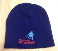 Transworld Skateboarding Magazine Blue Beanie Tws Good Condition Made in Usa