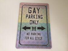 Gay parking only -  Blechschild 20x30 cm Parkplatz Garage Carport Schild 11
