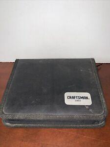 Craftsman socket Set #33853 (Incomplete) 38 pieces including case
