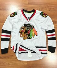 $300 CHICAGO BLACKHAWKS AUTHENTIC NHL REEBOK EDGE HOCKEY JERSEY W/ FIGHT STRAP