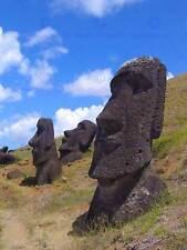 LANDSCAPE EASTER ISLAND STONE HEAD MOAI POSTER ART PRINT 30X40 CM BB3067B