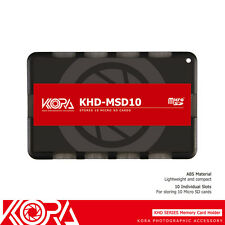 KORA Ultra Slim Credit Card size Memory Card Holder fits 10 Micro SD MSD Cards