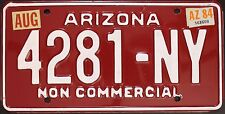Original plaque usa arizona 1984 plaques D 'IMMATRICULATION targa Canyon