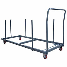 Plastic Development Group 72 Inch Stacking Folding Table Dolly Cart (Damaged)