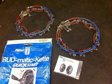 RUD SNOW CHAINS (PAIR) - RUD-MATIC - QUICKSTART + BAG - EX HIRE 44-215