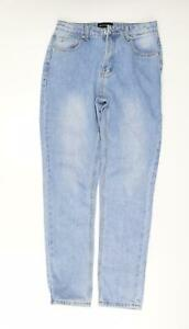 PRETTYLITTLETHING Womens Blue  Denim Boyfriend Jeans Size 8 L30 in