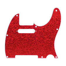 D'Andrea 4-Ply 8-Hole Telecaster Pickguard Red Sparkle