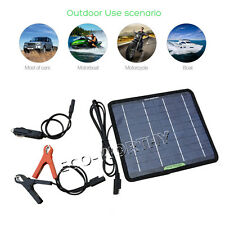 5W Portable Solar Panel Power Backup for 12V Outdoor Camper Battery Charge