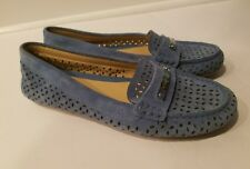 NEW  Michael Kors Loafer Perforated Shoes Size 5.5M Flats Daisy Moc Denim