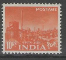 INDIA SG416 1959 10r ORANGE MNH