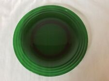 "Bormioli Rocco Forest FORUM GREEN Glass 12"" Chop Plate/Round Platter w Rings"
