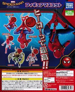 MARVEL Spiderman Homecoming Ball chain Figurine mascot 5pcs set Gashapon