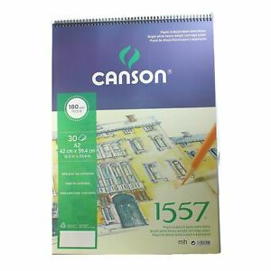 Canson 1557 Spiral Drawing Pad 180gsm A2