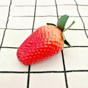 6x Artificial Strawberries Fruit Plastic Decorative Faux Fake Fruit Home Decor