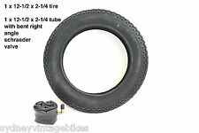 """12-1/2 x 2-1/4"""" INCH TYRES KNOBBY TIRES TUBES HOTA PRAMS JOGGERS BUGGY BIKE SYD"""