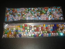 30 BEADS MIXED SIZES & COLORS CUBE SWAROVSKI CRYSTAL BEADS 4MM&6MM(USA SELLER)X2