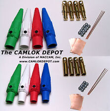 Camlok #2 - 2/0 MALE & FEMALE In Line 1 Phase Kit 8 pcs