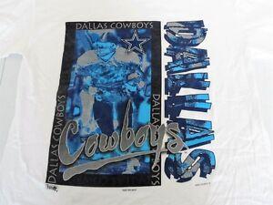 Dallas Cowboys 1994 Magic Johnson T's Vintage NFL Tee T-Shirt White Size XL