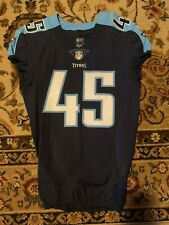 2017 Tennessee Titans #45 Game Issued /Worn Blue Jersey