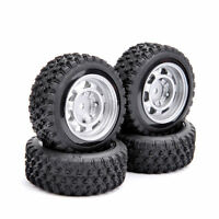 1/10 RC Rally Racing Off Road Car Rubber Tyre Tire& Wheel Set 4PCS For HPI HSP