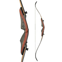 "62"" 20-50lbs Recurve Bow Traditional Hunting Bow Archery Take Down Right Hand"