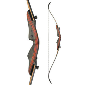 """62"""" 20-50lbs Recurve Bow Traditional Hunting Bow Archery Take Down Right Hand"""