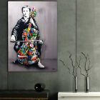 Cello Playing Graffiti Artwork Canvas Painting Wall Art Print Picture Decor