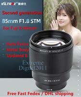 New Version Viltrox 85mm F/1.8 Auto Focus STM Lens II for Fujifilm Fuji X Camera
