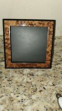"""Maple Burl & Black Lacquer Jewelry Box -  8"""" x 8"""" x 3"""" - Made in Sorrento, Italy"""