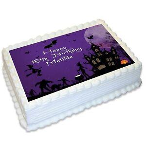 Halloween A4 Edible Icing Cake Topper