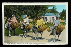 """JAMAICA 04-JAMAICA -""""Greetings from Jamaica"""" on the way home from market"""