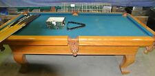 Custom Made Pool Table includes 9 sticks & balls with rack *Great condition