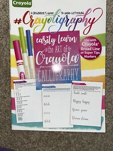 Crayola Crayoligraphy Hand Lettering Calligraphy Create Share Activity Book NEW