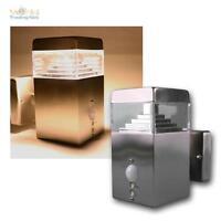 """LED Lámpara Pared"""" ctbw-75 PIR """", Blanco Cálido 450Lm 8w, con sensor movimiento,"""