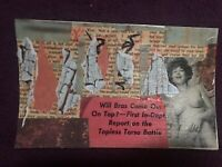 """Mail Art COLLAGE by Steve Camaro - Original Postcard Art """"TELL HER SHE COULD BE"""""""