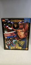 """1998 MARVEL FAMOUS COVER SERIES 8"""" BLACK WIDOW FIGURE WITH FABRIC COSTUME"""