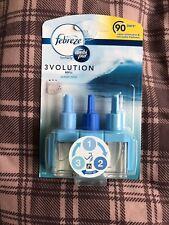 3 x FEBREZE 3 Volution Désodorisant prise électrique en recharge Ocean Mist
