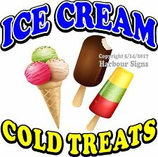 Ice Cream Decal (Choose Your Size) Food Truck Sign Restaurant Concession Sticker