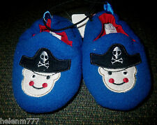 Baby Boys Shoe Size 2 Royal Blue Pirate Padded Inner Rubber Sole Slipper Shoe