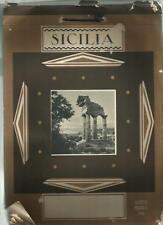 CALENDARIO guido marussig 1930 RARO CON 52 GROSSE FOTOGRAFIE SICILIA