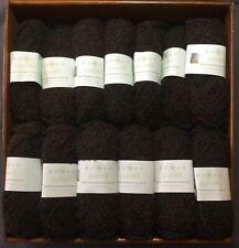 ROWAN British Fine Boucle Knitting Crochet Yarn 318 Masham Brown Pack13Balls 50g
