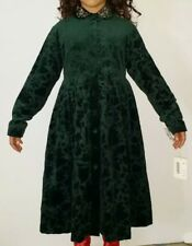I PINCO PALLINO Victorian Green Velvet Girls Embroired Holiday Dress Gown 12 14