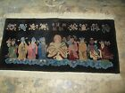 Antique 1920's  Nichols Art Deco Chinese Rug Hand Knotted Wool Wise Men 2' x 4'