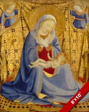 LA MADONNA OF HUMILITY MARY & BABY JESUS CHRIST PAINTING ART REAL CANVAS PRINT