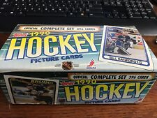 1990-91 TOPPS NHL HOCKEY FACTORY COMPLETE 396 CARD SET!