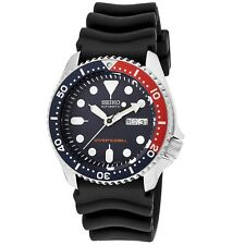 Seiko SKX009 K1 Automatic Blue & Red Men's Analog Divers Watch With Gift Box