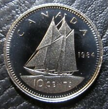 1984 Canada Proof 10 Cents - Uncirculated Dime from Set