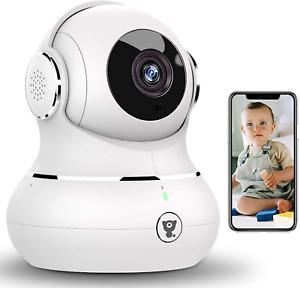 WLAN IP Kamera, Littlelf Überwachungskamera WiFi Hundekamera mit 360° Schwenkbar