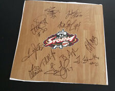 SEATTLE STORM  2013 Team Signed WNBA Floor Board TINA THOMPSON Basketball