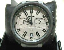 Diesel DZ4498 Gray Dial Chronograph Black Case Gray Silicone Strap 48mm NWT $240